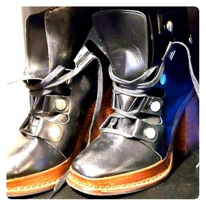 Zara womens boots heels shoes size 38 NEW